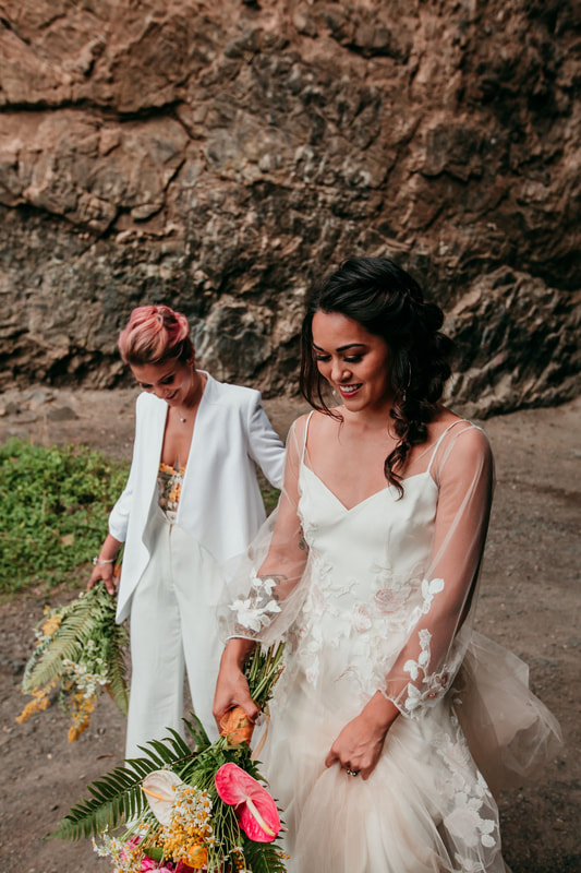 Elopement in Hawaii with Atlas Beauty Company